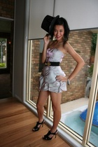 Self Designed dress - Mollini shoes - vintage belt - hat - bracelet