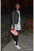white Depurtat shoes - white Outliers dress - black new look jacket