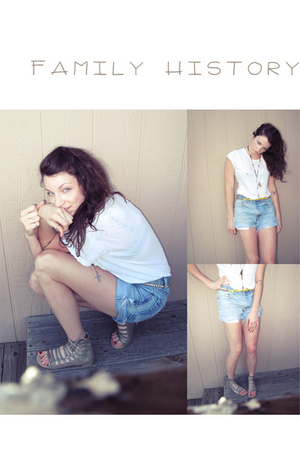 Levis shorts - unknown brand shirt - Dolce Vita shoes - Wet Seal belt