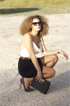 Mango dress - Celine glasses - Stradivarius pumps