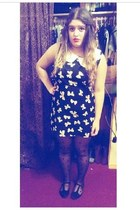navy bows Ebay dress