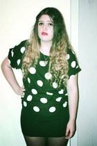 black polkadots Ebay blouse