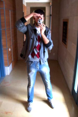 Topman jacket - Bershka vest - Zara jeans - Topman shoes