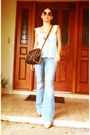 Denim-jeans-dooney-bourke-purse-70s-vintage-sunglasses-franco-sarto-heels