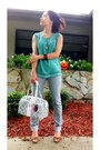 Heather-gray-banana-republic-jeans-hot-pink-coach-bag