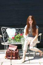 vintage bag - H&M shirt - Zara pants - vintage shoes - vintage belt - vintage sc