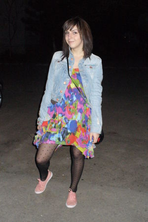 H&M dress - H&M jacket - H&M tights - H&M shoes