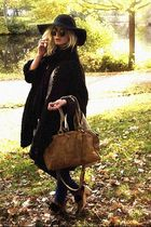 Monki hat - swedish clogs shoes - weekday coat - Bik Bok jeans - H&M scarf
