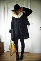 Monki hat - bag - H&M jacket - Bik Bok cardigan - Bik Bok jeans - H&M boots