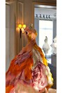 Light-orange-dior-dress