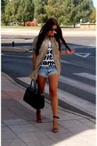 Zara t-shirt - Zara shirt - Zara shorts - Stradivarius sandals