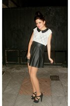 Stradivarius skirt - BLANCO blouse - Marypaz heels