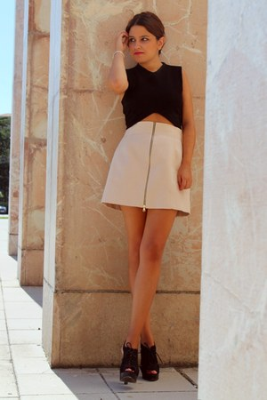 black Zara top - Zara skirt