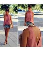 pull&bear shirt - BLANCO bag - Zara shorts