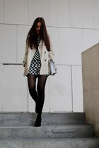 Zara coat - Zara bag - Zara shorts - H&M blouse