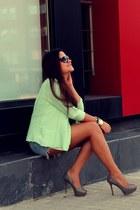 Zara jacket - Zara shorts - Zara heels