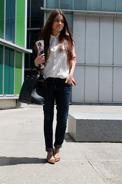 H&M jeans - H&M jacket - BLANCO flats