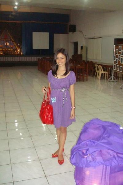 Purple Dress Red Shoes
