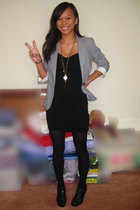 Marc Jacobs blazer - H&M dress - Delicious shoes - Forever21 necklace