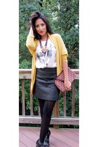 Zara heels - Urban Outfitters sweater - christian dior purse - Zara blouse