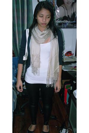 No Boundaries shirt - Calliope jacket - Mango leggings - Crocs shoes - scarf