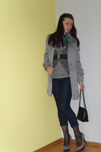 H&M - Tally Weijl jeans - shirt - Retro shoes - New Yorker purse - scarf
