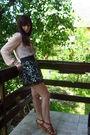 Zara-blouse-new-yorker-skirt-retro-shoes