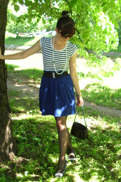 skirt - Zara shirt - Tally Weijl belt - New Yorker purse - necklace