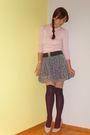 Zara-skirt-terranova-sweater-new-yorker-stockings