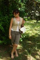 Terranova shorts - Tally Weijl vest - Urban Republic purse - Retro shoes