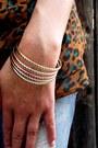 Gold-bangles-set-forever-bracelet-navy-mossimo-supply-co-jeans