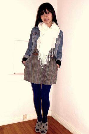 off white fringed Xhileration scarf - lark & wolff dress
