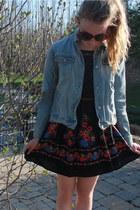 free people dress - lightwash denim vintage jacket
