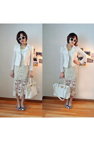 lace skirt skirt - pumps