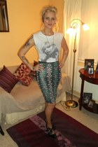 Topshop skirt - Miss Selfridge t-shirt