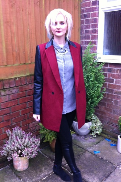 next boots - internationale jacket - Topshop leggings - next shirt