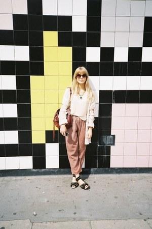 balenciaga bag - Topshop cardigan - vintage pants