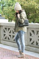 beige Yesstyle hat - heather gray Forever 21 boots
