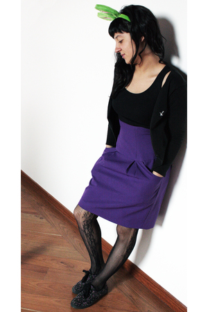 skirt - gef top - sweater - stockings