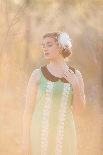 vintage dress dress - thrifted heels