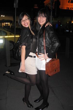 Topshop jacket - The Cassette Society dress - vintage purse - vintage shoes