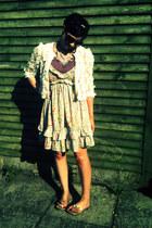 River Island jacket - warehouse dress - Primark vest - Ebay necklace