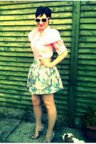 Primark skirt - floral Primark sunglasses - Irregular Choice heels