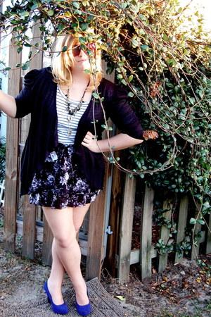 black Target cardigan - white Target shirt - deep purple Target skirt - blue For