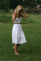 white Urban Outfitters dress - nude Antonio Melani flats