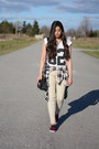 Neutral-forever-21-shirt-black-forever-21-bag-maroon-vans-sneakers