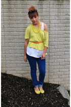 True Religion jeans - Forever 21 top - Charming Charlie necklace - Old Navy top