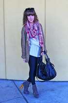 American Apparel sweater - Steve Madden boots - American Apparel leggings