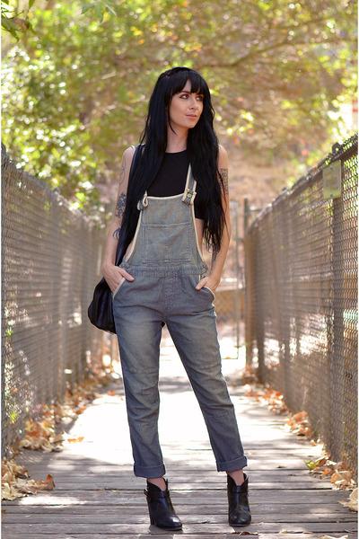 H&M top - rag & bone boots - free people romper