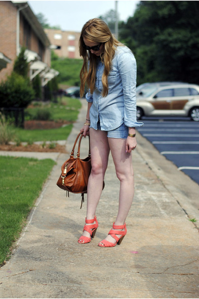 light blue martin  osa shirt - tawny botkier bag